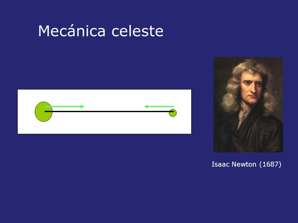 Isaac Newton (1687) Mecánica celeste