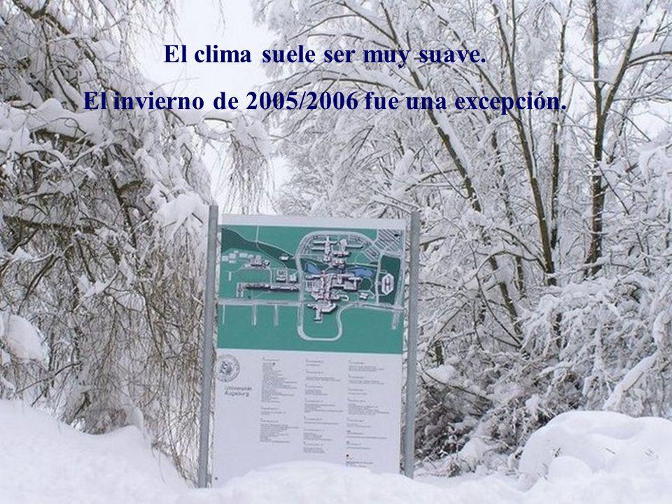 El clima suele ser muy suave. El invierno de 2005/2006 fue una excepción.