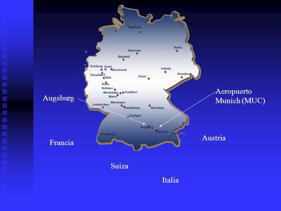 Augsburg Francia Suiza Italia Austria Aeropuerto Munich (MUC)