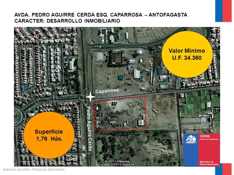 Gobierno de Chile | Ministerio del Interior AVDA. PEDRO AGUIRRE CERDA ESQ. CAPARROSA – ANTOFAGASTA CARACTER: DESARROLLO INMOBILIARIO Superficie 1,76 H
