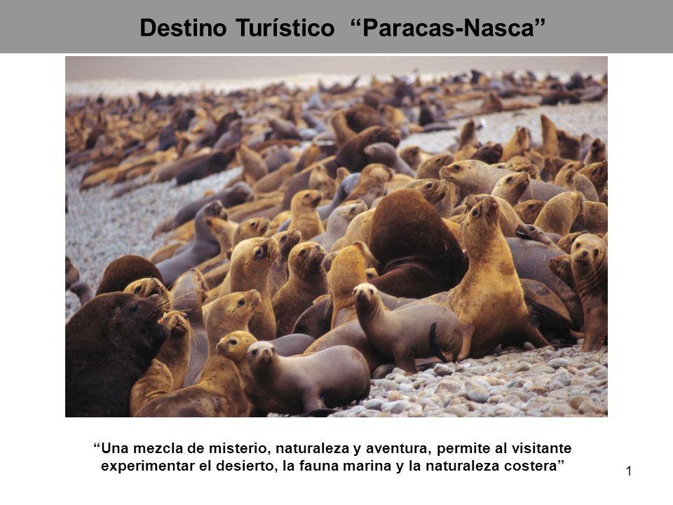 Destino Turístico Paracas-Nasca Una mezcla de misterio, naturaleza y aventura, permite al visitante experimentar el desierto, la fauna marina y la nat