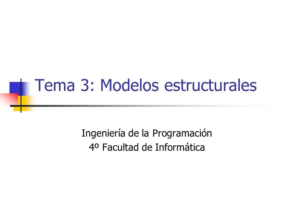 Tema 3: Modelos estructurales Ingeniería de la Programación 4º Facultad de Informática