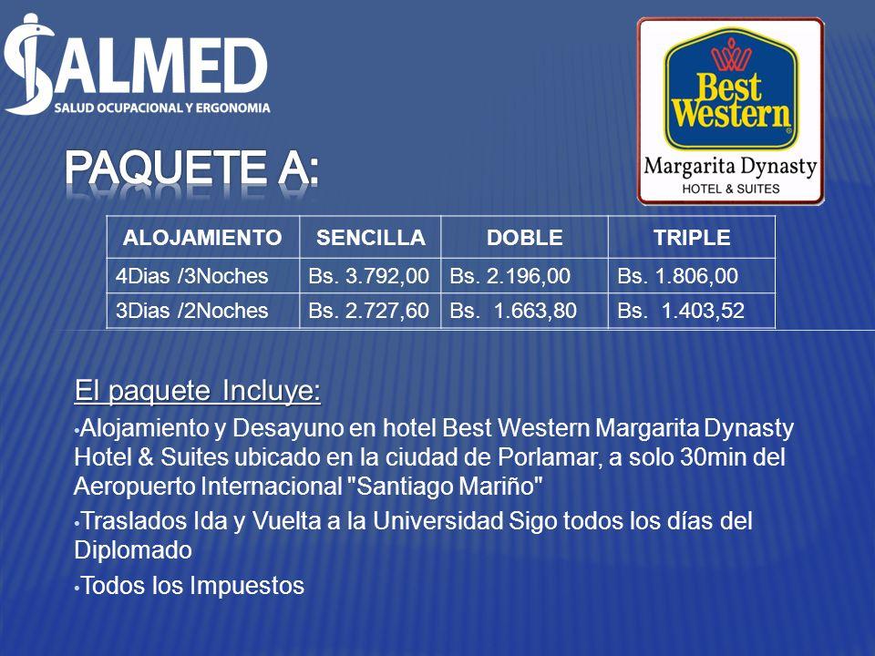 El paquete Incluye: Alojamiento y Desayuno en hotel Best Western Margarita Dynasty Hotel & Suites ubicado en la ciudad de Porlamar, a solo 30min del A