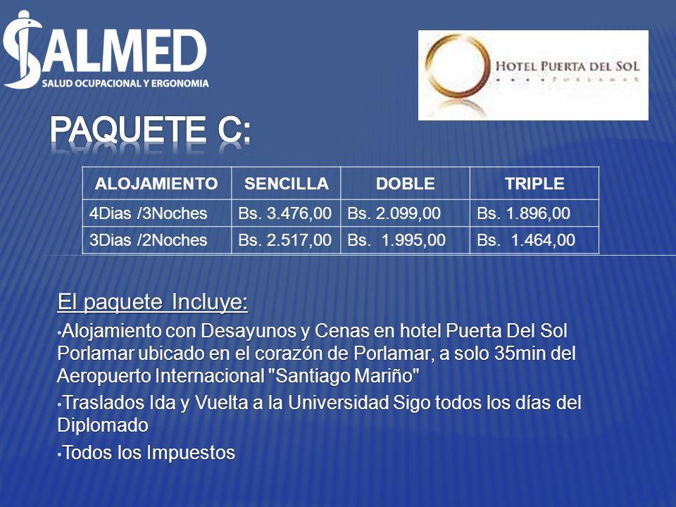El paquete Incluye: Alojamiento con Desayunos y Cenas en hotel Puerta Del Sol Porlamar ubicado en el corazón de Porlamar, a solo 35min del Aeropuerto