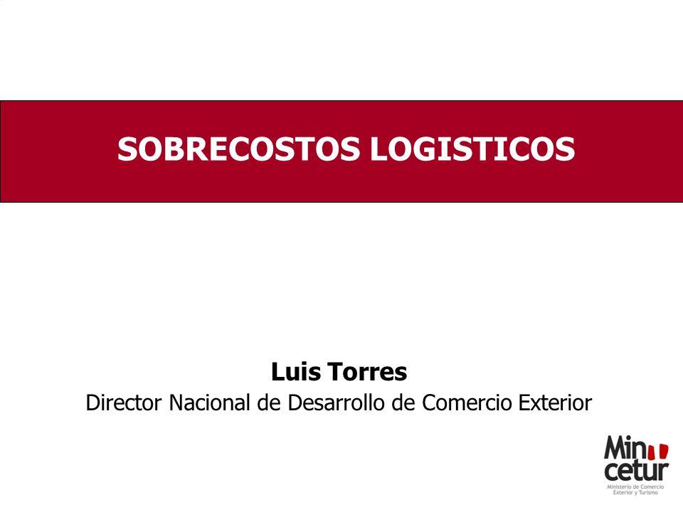 Luis Torres Director Nacional de Desarrollo de Comercio Exterior SOBRECOSTOS LOGISTICOS