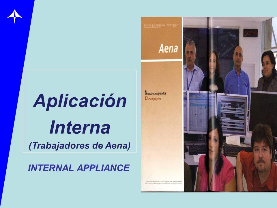 Aplicación Interna (Trabajadores de Aena) INTERNAL APPLIANCE