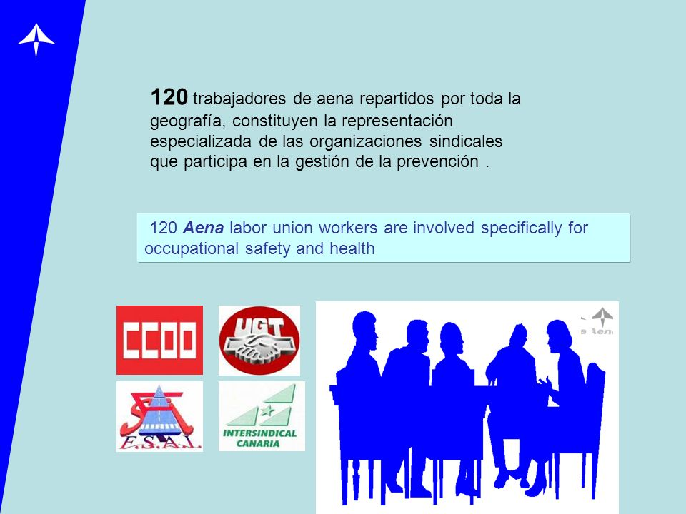 120 trabajadores de aena repartidos por toda la geografía, constituyen la representación especializada de las organizaciones sindicales que participa