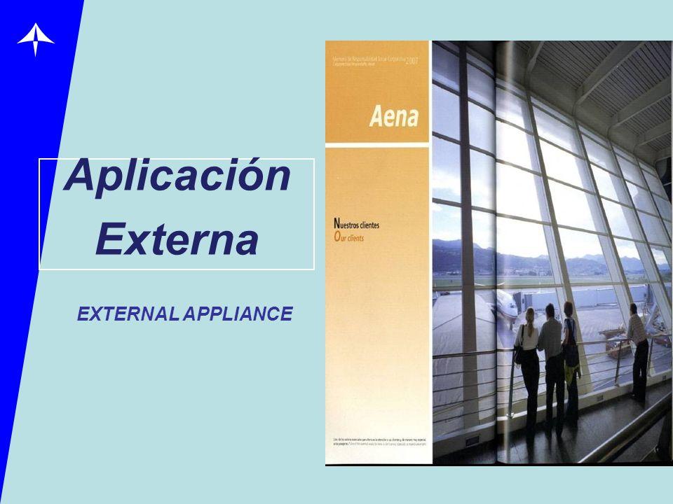 Aplicación Externa EXTERNAL APPLIANCE