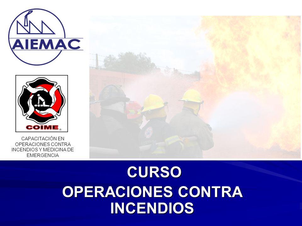 CURSO CURSO OPERACIONES CONTRA INCENDIOS CAPACITACIÓN EN OPERACIONES CONTRA INCENDIOS Y MEDICINA DE EMERGENCIA