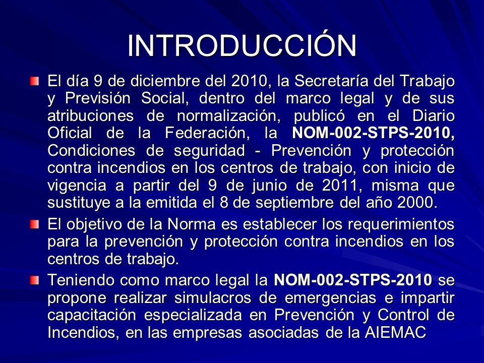 INTRODUCCIÓN El día 9 de diciembre del 2010, la Secretaría del Trabajo y Previsión Social, dentro del marco legal y de sus atribuciones de normalizaci