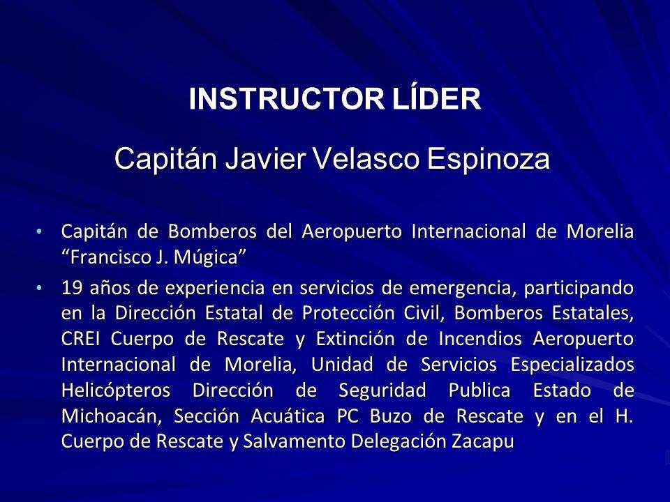 Capitán de Bomberos del Aeropuerto Internacional de Morelia Francisco J. Múgica Capitán de Bomberos del Aeropuerto Internacional de Morelia Francisco