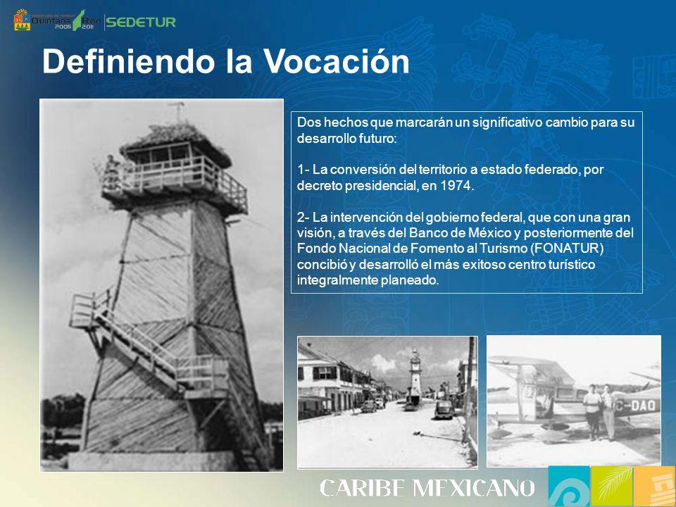 Dos hechos que marcarán un significativo cambio para su desarrollo futuro: 1- La conversión del territorio a estado federado, por decreto presidencial, en 1974.