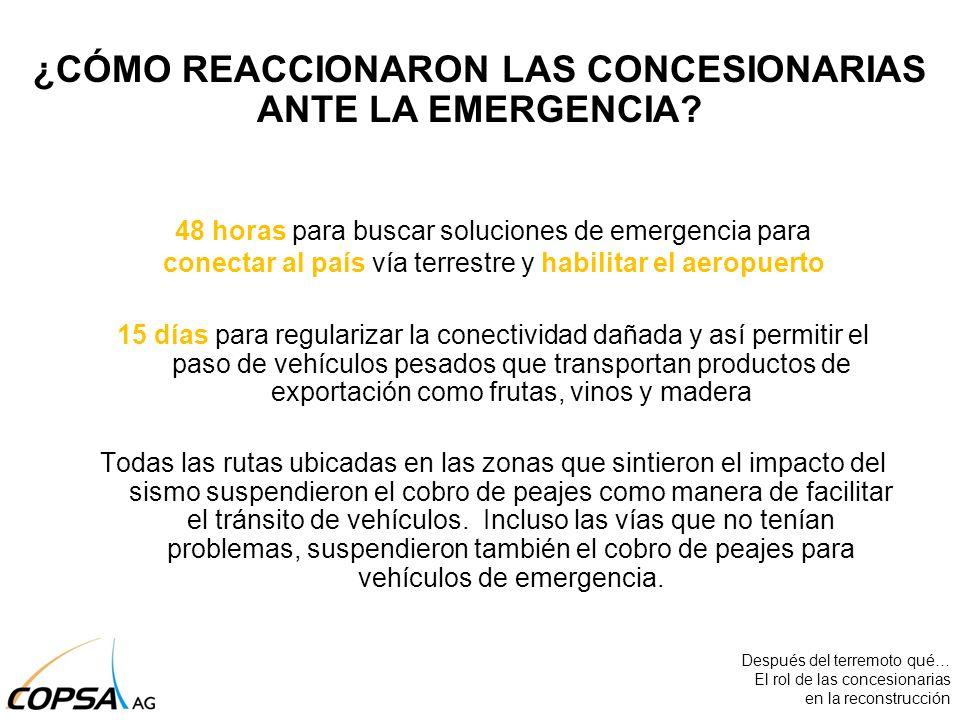 48 horas para buscar soluciones de emergencia para conectar al país vía terrestre y habilitar el aeropuerto 15 días para regularizar la conectividad d