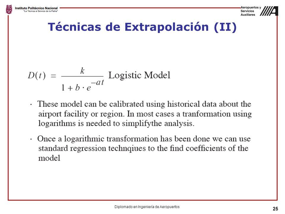 25 Técnicas de Extrapolación (II) Diplomado en Ingeniería de Aeropuertos