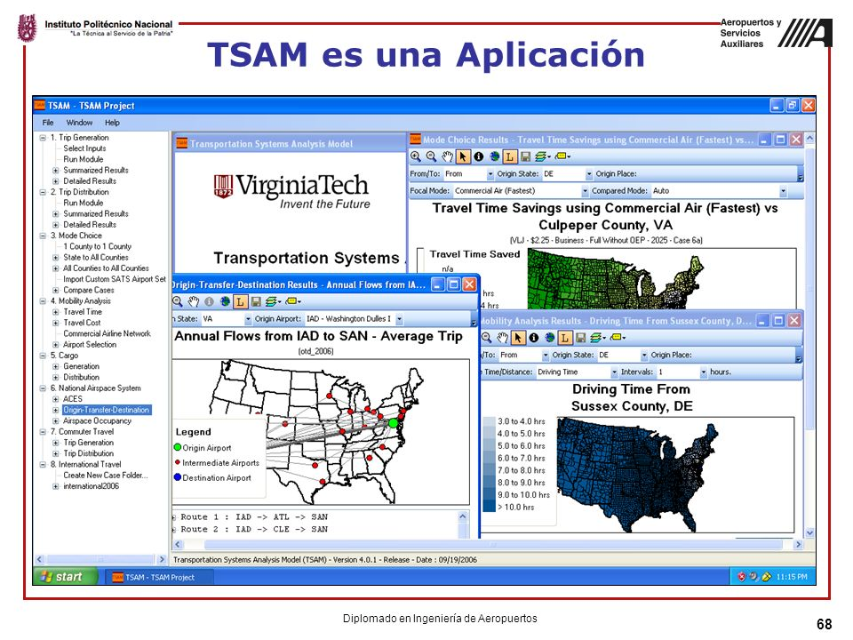 68 TSAM es una Aplicación Diplomado en Ingeniería de Aeropuertos