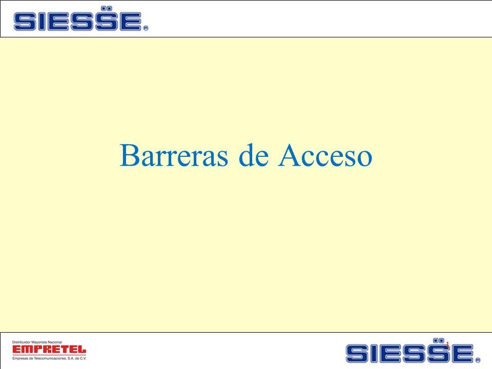 Barreras de Acceso 1