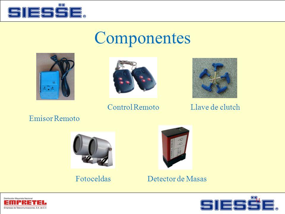 Componentes Emisor Remoto Control RemotoLlave de clutch Fotoceldas Detector de Masas 11