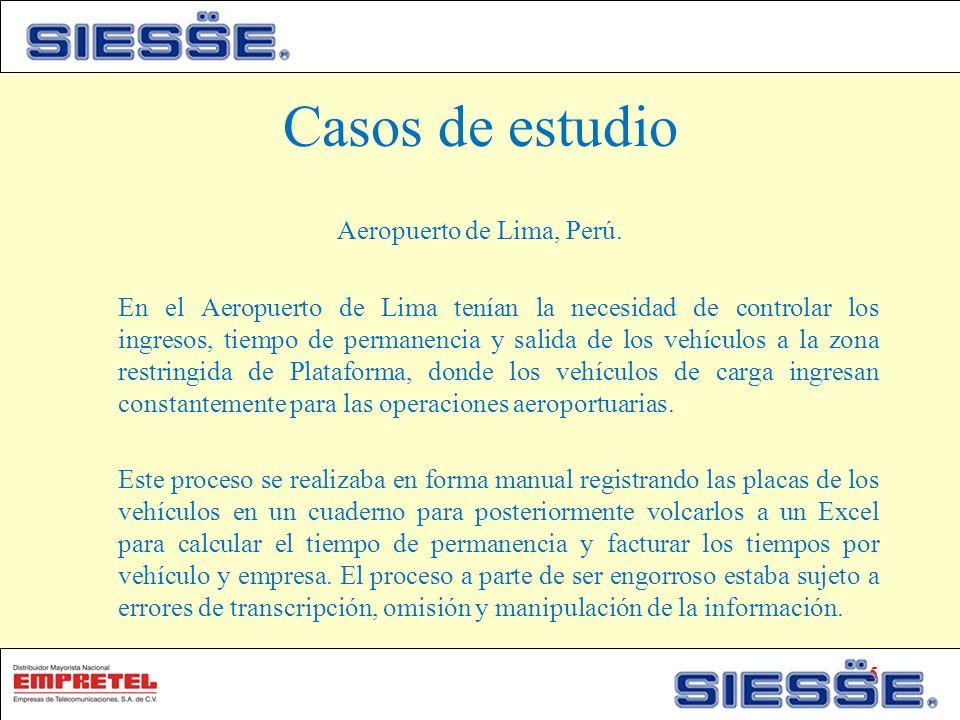 Casos de estudio Aeropuerto de Lima, Perú.