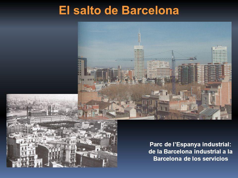 El salto de Barcelona Parc de lEspanya industrial: de la Barcelona industrial a la Barcelona de los servicios