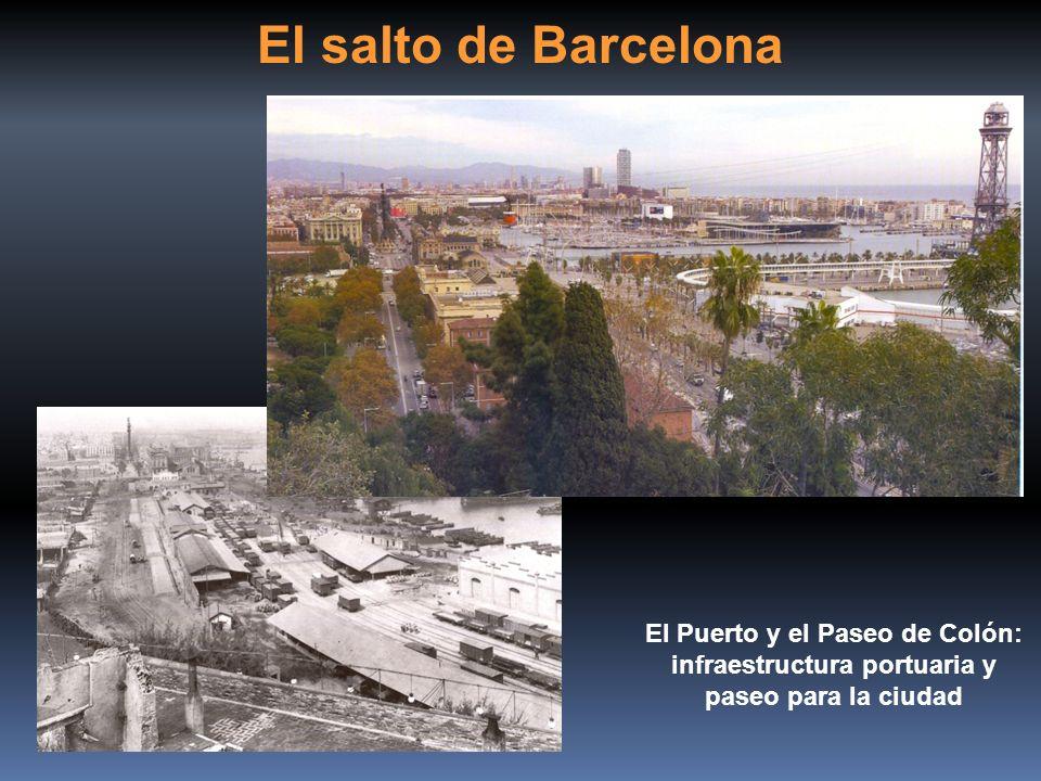 El salto de Barcelona El Puerto y el Paseo de Colón: infraestructura portuaria y paseo para la ciudad