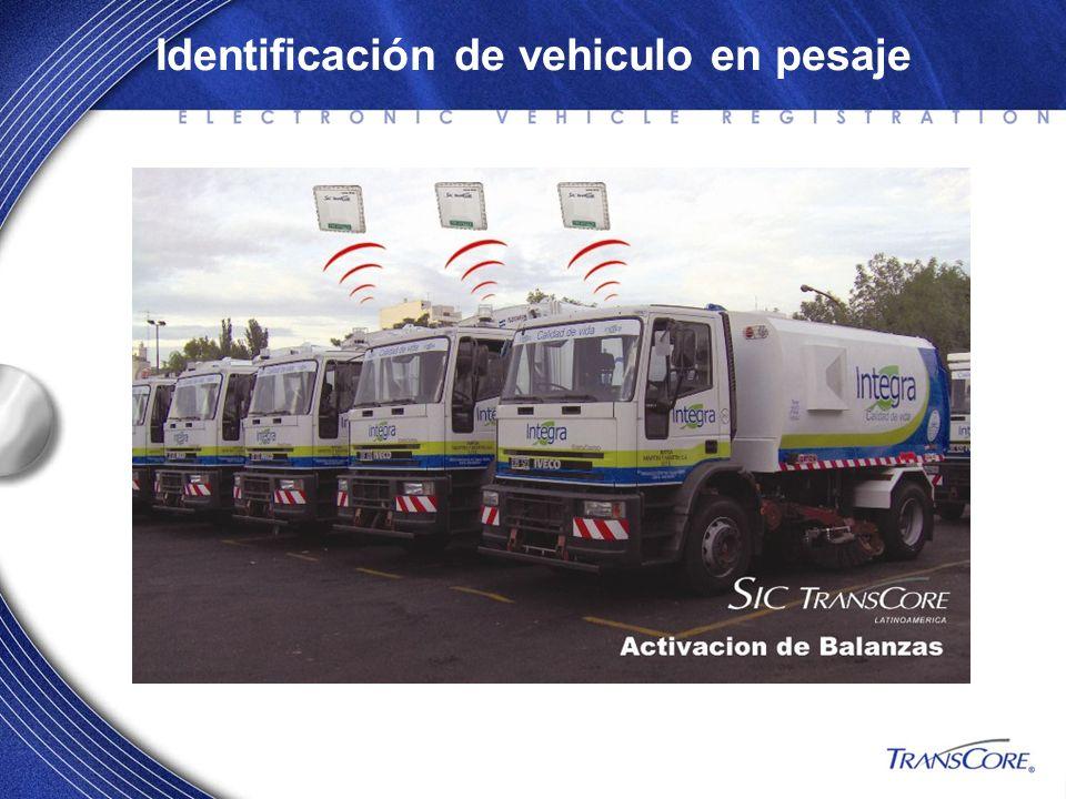 Identificación de vehiculo en pesaje