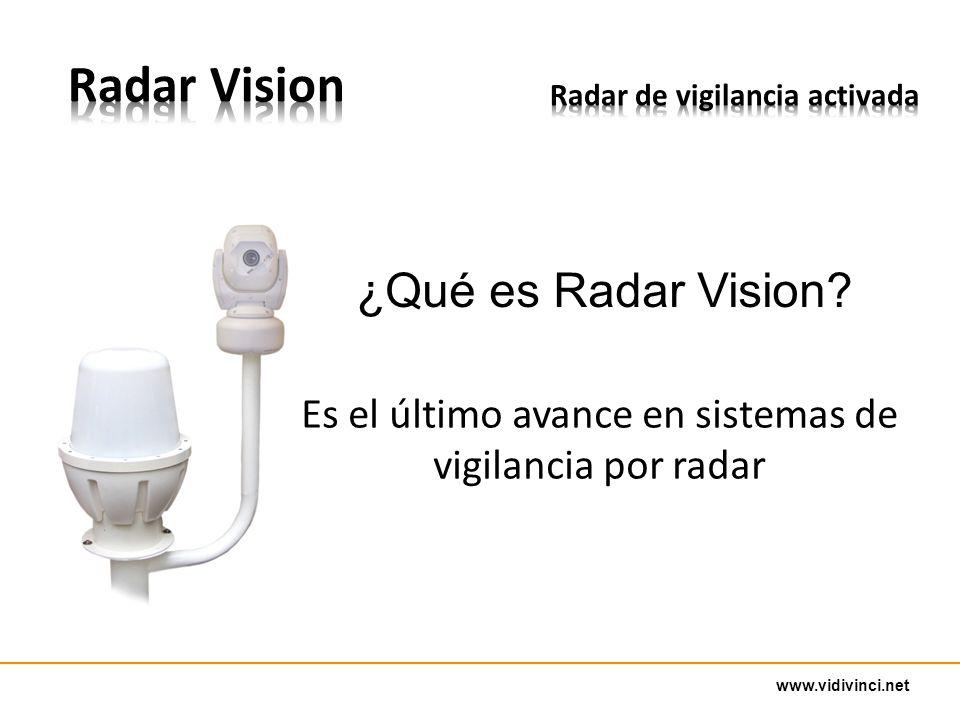 www.vidivinci.net ¿Qué es Radar Vision? Es el último avance en sistemas de vigilancia por radar