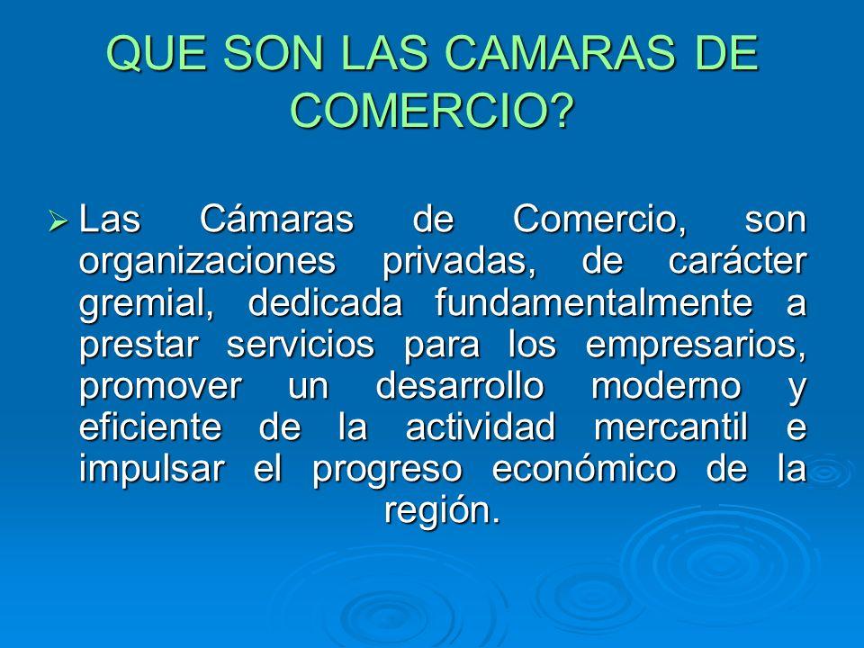 SERVICIOS QUE PRESTA LAS CAMARAS DE COMERCIO Servicios Regístrales.