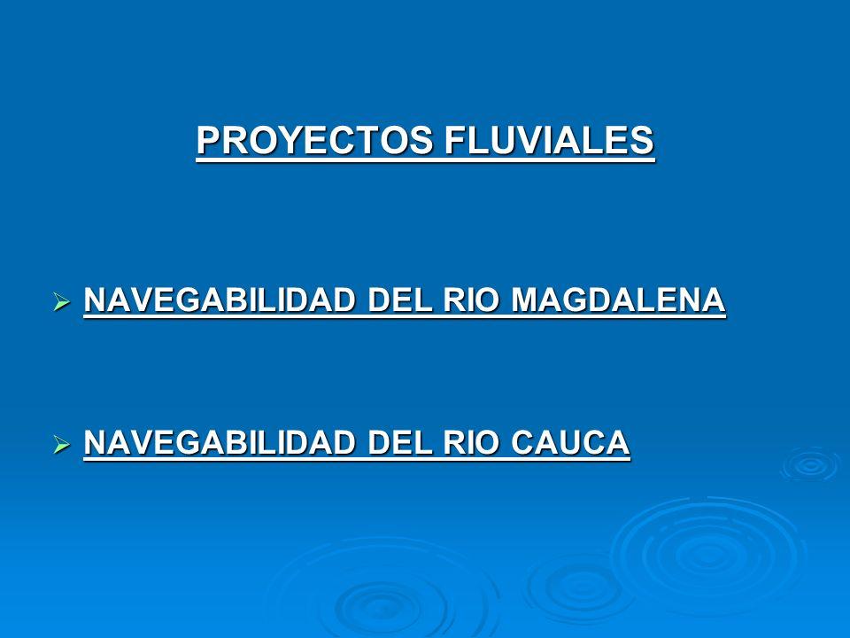 PROYECTOS FLUVIALES NAVEGABILIDAD DEL RIO MAGDALENA NAVEGABILIDAD DEL RIO MAGDALENA NAVEGABILIDAD DEL RIO CAUCA NAVEGABILIDAD DEL RIO CAUCA