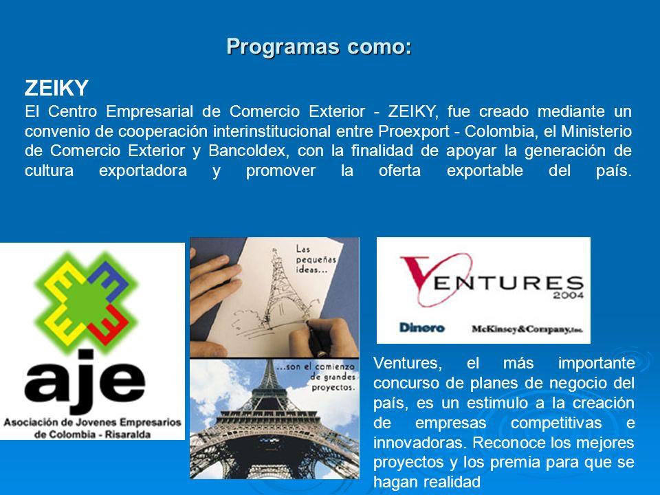 Programas como: Ventures, el más importante concurso de planes de negocio del país, es un estimulo a la creación de empresas competitivas e innovadora
