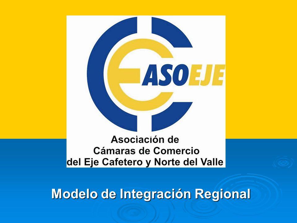 INTEGRACION INCIDENCIA DE ASOEJE EN LA ECORREGION Jalonar procesos de integración regional que permitan un mayor desarrollo socio – económico y empresarial.