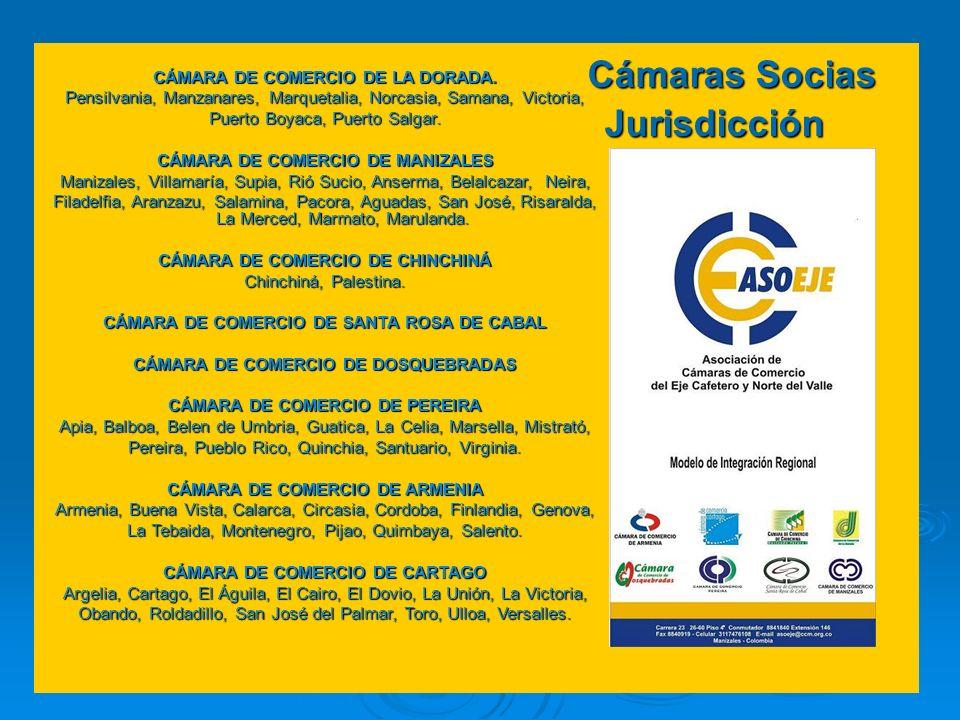 Cámaras Socias Jurisdicción CÁMARA DE COMERCIO DE LA DORADA. Pensilvania, Manzanares, Marquetalia, Norcasia, Samana, Victoria, Puerto Boyaca, Puerto S