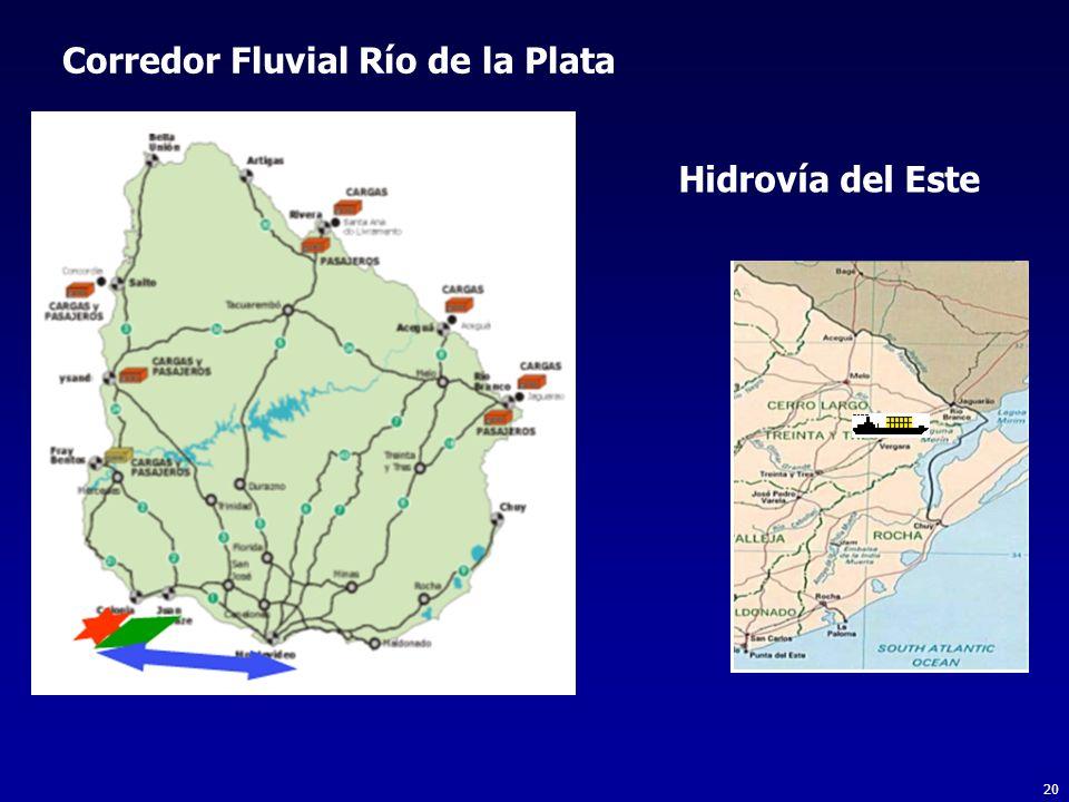20 Corredor Fluvial Río de la Plata Hidrovía del Este
