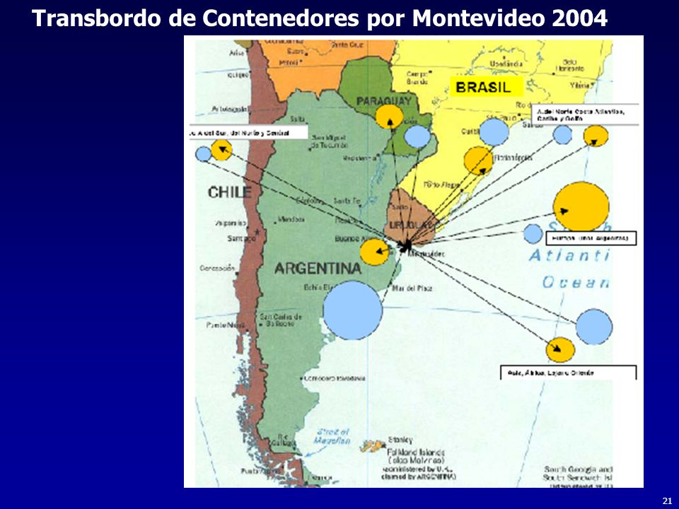 21 Transbordo de Contenedores por Montevideo 2004