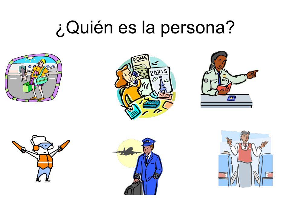 ¿Quién es la persona?