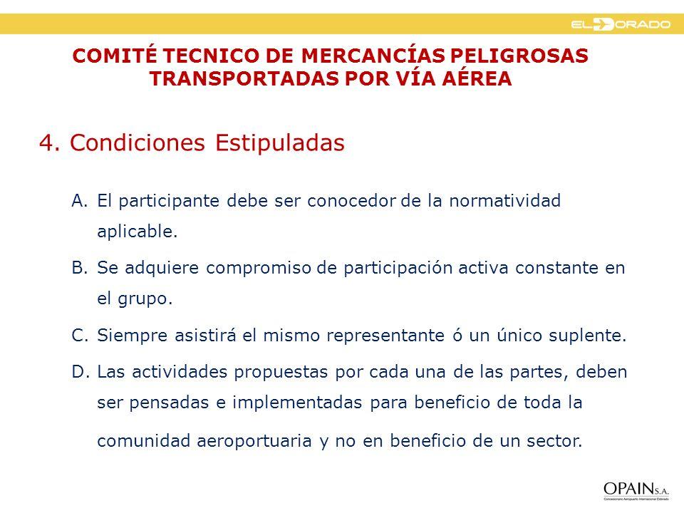 4.Condiciones Estipuladas E. Periodicidad de las reuniones.