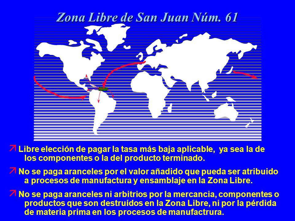 ä La Zona Libre está libre de las restricciones de cuota que establece los Estados Unidos.