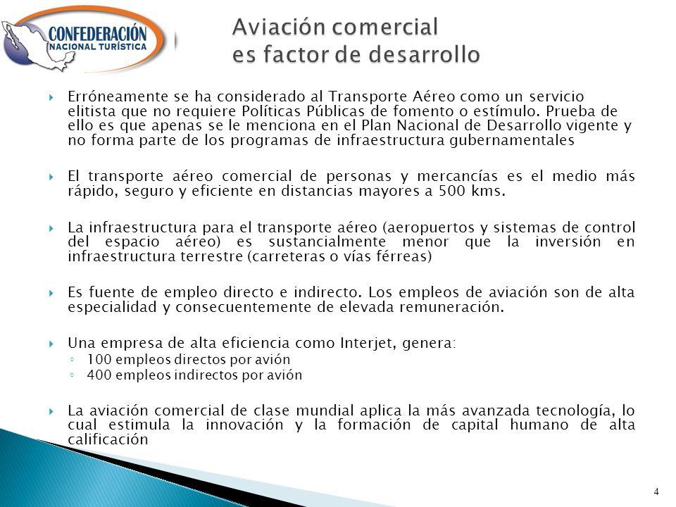 Erróneamente se ha considerado al Transporte Aéreo como un servicio elitista que no requiere Políticas Públicas de fomento o estímulo.