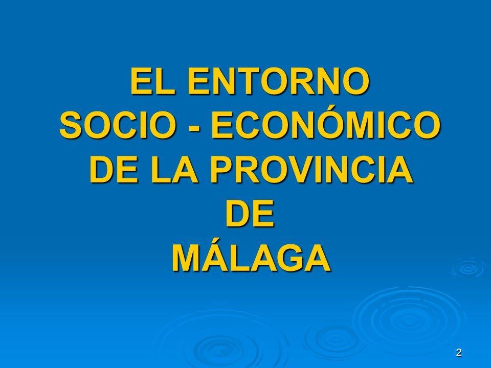 2 EL ENTORNO SOCIO - ECONÓMICO DE LA PROVINCIA DE MÁLAGA