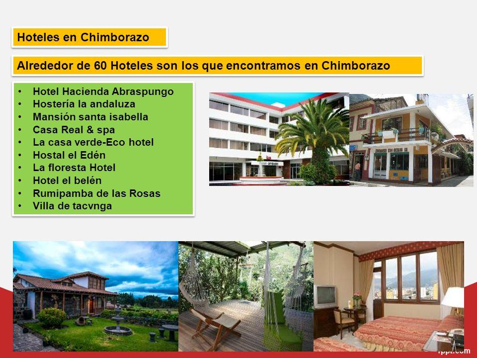 Hoteles en Chimborazo Hotel Hacienda Abraspungo Hostería la andaluza Mansión santa isabella Casa Real & spa La casa verde-Eco hotel Hostal el Edén La