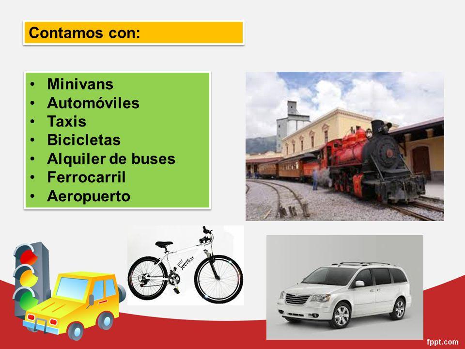 Minivans Automóviles Taxis Bicicletas Alquiler de buses Ferrocarril Aeropuerto Minivans Automóviles Taxis Bicicletas Alquiler de buses Ferrocarril Aer