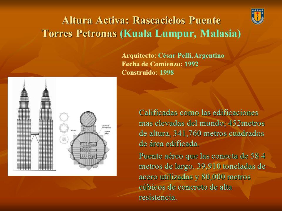 Altura Activa: Rascacielos Puente Torres Petronas ( Altura Activa: Rascacielos Puente Torres Petronas (Kuala Lumpur, Malasia) Calificadas como las edi