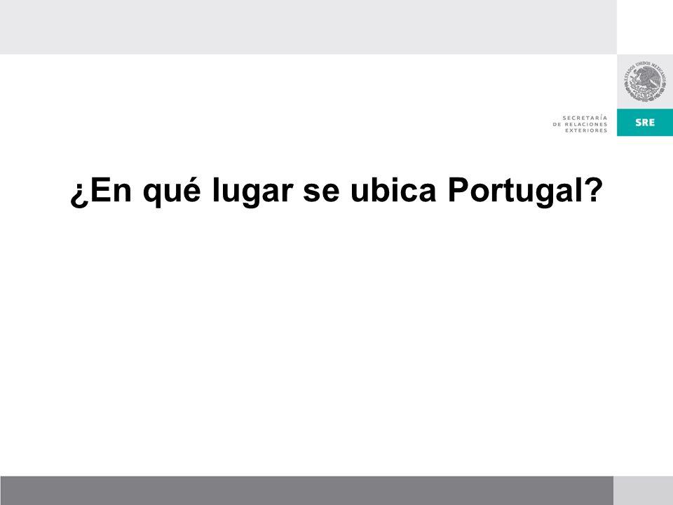 ¿En qué lugar se ubica Portugal?