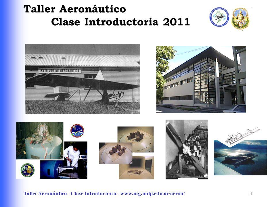 Taller Aeronáutico - Clase Introductoria - www.ing.unlp.edu.ar/aeron/1 Taller Aeronáutico Clase Introductoria 2011