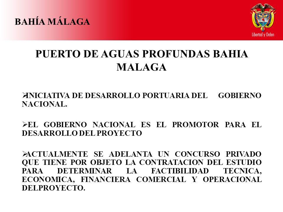 BAHÍA MÁLAGA PUERTO DE AGUAS PROFUNDAS BAHIA MALAGA INICIATIVA DE DESARROLLO PORTUARIA DEL GOBIERNO NACIONAL.