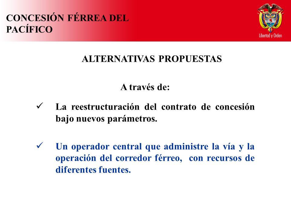 A través de: La reestructuración del contrato de concesión bajo nuevos parámetros.