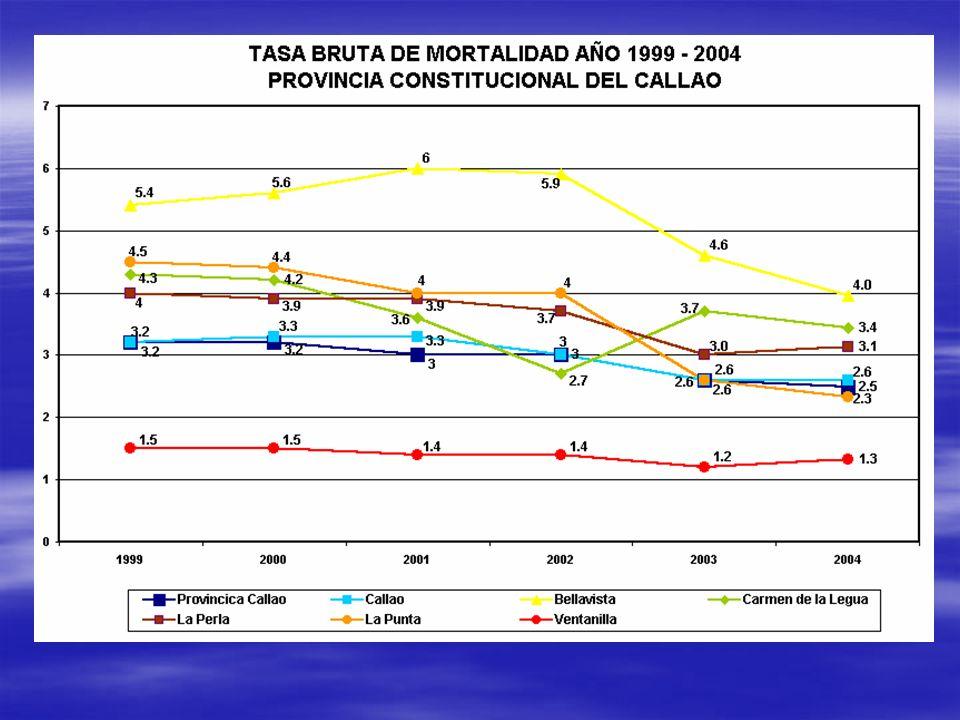 TASA BRUTA DE MORTALIDAD AÑO 1999 - 2004 PROVINCIA CONSTITUCIONAL DEL CALLAO