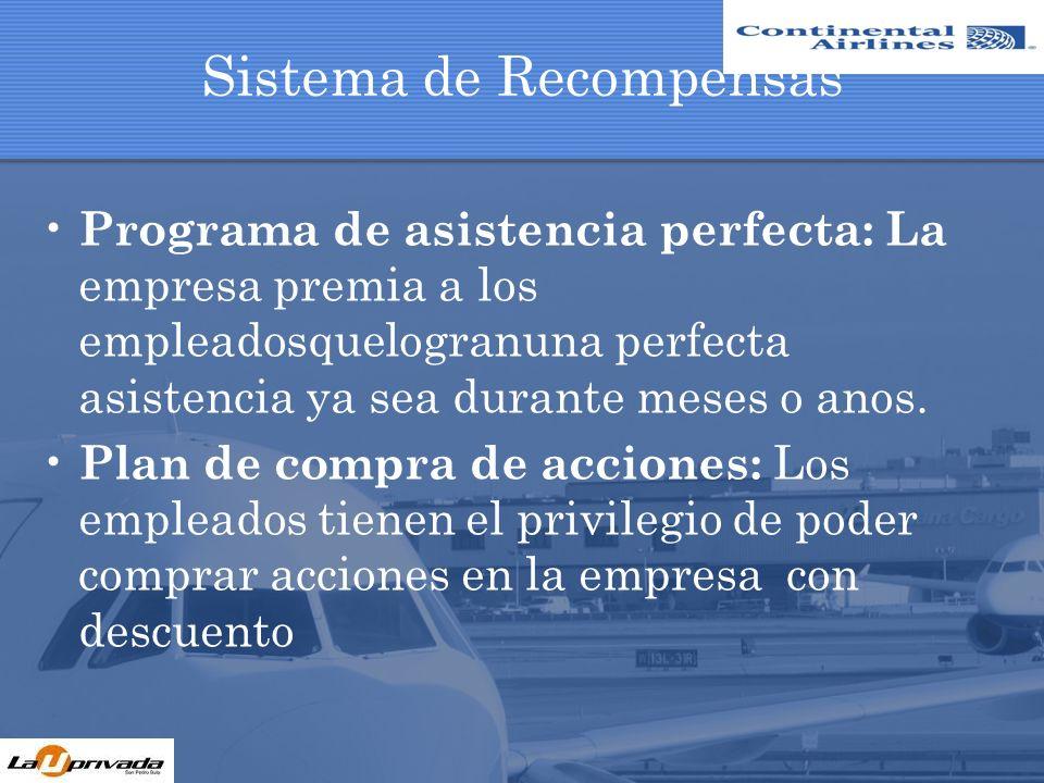 Sistema de Recompensas Plan de retiro: Después de 5 anos de laborar, los empresaofreceunatractivo plan de retiro.