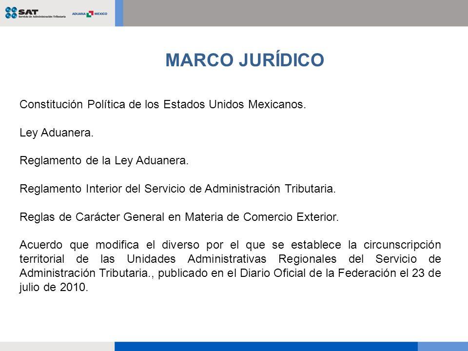 Constitución Política de los Estados Unidos Mexicanos. Ley Aduanera. Reglamento de la Ley Aduanera. Reglamento Interior del Servicio de Administración
