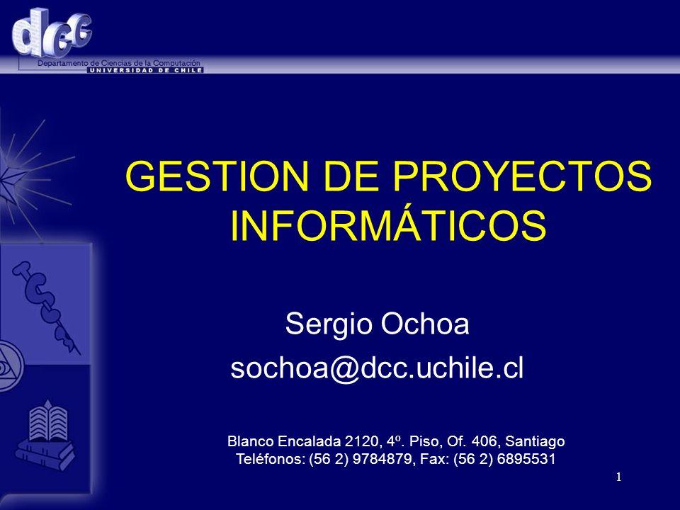 2 Objetivo del curso Mi objetivo: presentar mi visión de la gestión de proyectos informáticos en el mundo de hoy.