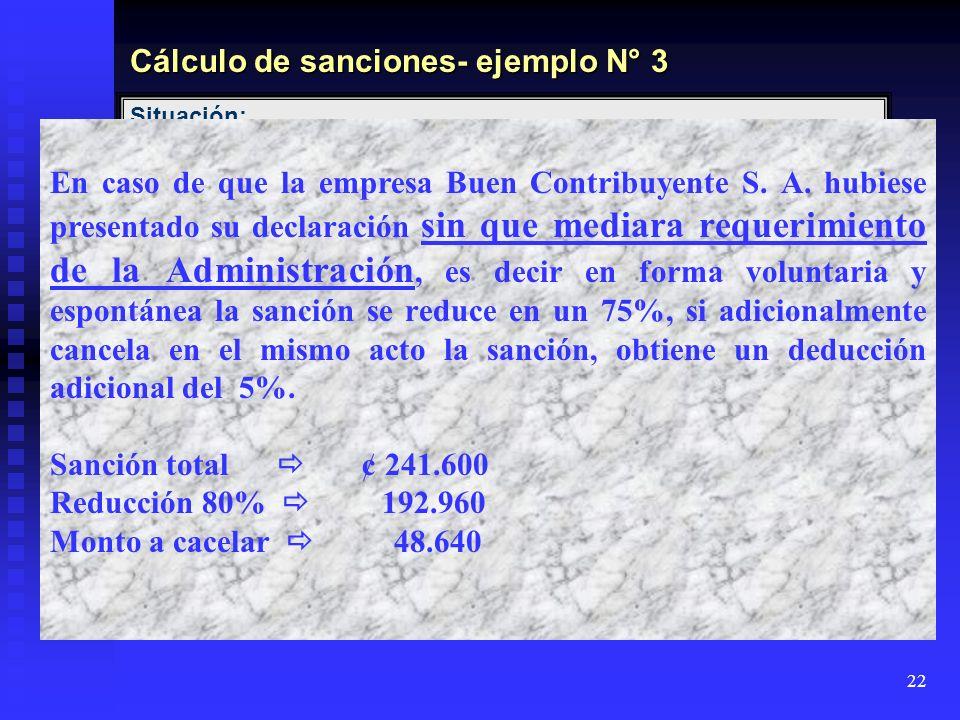22 Situación: La compañía Buen Contribuyente S.A, presentó su declaraciones informativas D.151 Resumen Clientes, Proveedores y Gastos Especificos corr